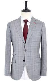 Suit Pattern Best GLEN PLAID LIGHT GREY SUIT Mayo Clothier