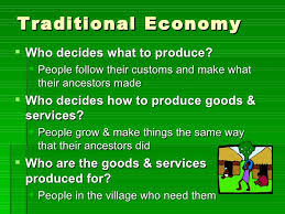 how do economic systems answer the basic economic questions  6 traditional economy