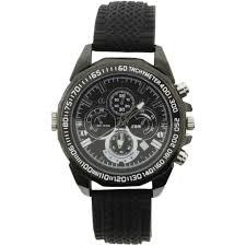 hidden cameras hidden camera accesories b h brickhouse security wristwatch 1080p covert camera black
