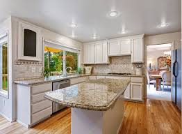 Santa Cecilia Granite Kitchen Santa Cecilia Gold Granite Kitchen Countertop Great Lakes