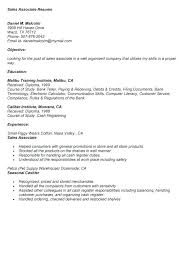 Resume Examples For Sales Associate Sample Retail Store – Creer.pro