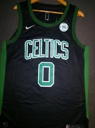 Jayson tatum signed a 4 year / $30,073,320 contract with the boston celtics, including $30,073,320 guaranteed, and an annual average salary of $7,518,330. Men S Boston Celtics Jayson Tatum 0 Black Stitched Basketball Jersey 1917944208