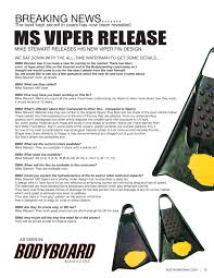 Viper Size Chart Ms Viper Fins By Mike Stewart