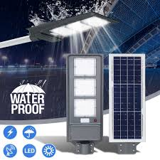 Us 6 78 50 Off Solar Street Led Light 20 40 60w Pir Motion Sensor Radar Induction Wall Lamp Light Pole Polycrystalline High Efficiency Outdoor In