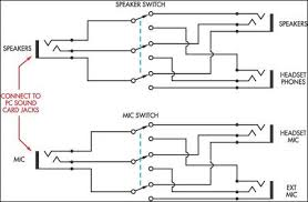 speaker headphone switch for computers circuit diagram speaker headphone switch for pcs circuit schematic