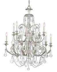 olde silver crystal chandelier w clear crystal