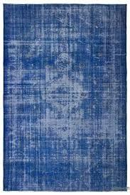 blue turkish rug blue over dyed vintage rug blue and white turkish rug