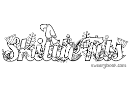 Small Picture Shitballs Swear Words Coloring Page from the Sweary Coloring