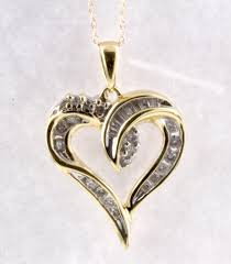 heart pendant in 14k yellow gold diamond pendant diamond pendant
