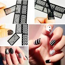 DIY Reusable Stamping Tool Nail Art Hollow Template Stickers Stamp ...