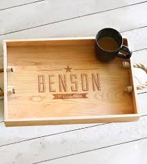 Custom Family Name Wooden Serving Tray | Home Kitchen \u0026 Pantry ...