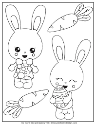 bunny color pages life is sweeter by