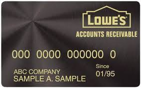 Lowes Commercial Credit Card Application Lowes Credit Card Lowes Accounts Receivable Store Credit Card