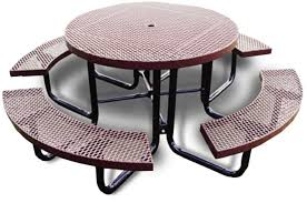 t46racs 46 portable round picnic table