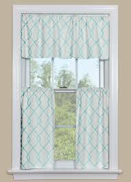 aqua kitchen curtains valance rico