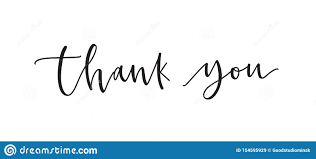 Thank You Cursive Font Thank You Word Or Message Written With Cursive Calligraphic