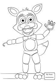 Fresh Toy Golden Freddy Coloring Pages Teachinrochestercom