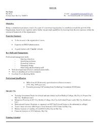 Resume format for Fresher Hr Job
