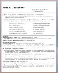 Substitute Teacher Resume Job Description Igniteresumes Com