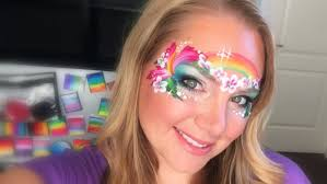 island princess face painting using kryvaline