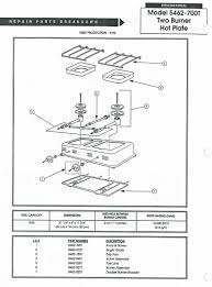 oldcolemanparts com parts diagrams 5464 700t hot plate 2 burner