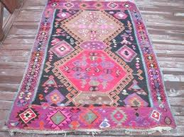 vintage rug area tribal nursery saloon office inches pink light