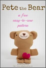 Teddy Bear Sewing Pattern Interesting Free Teddy Bear Sewing Pattern Pete The Bear Whileshenaps
