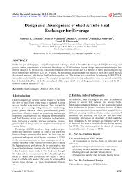 Research Paper On Heat Exchanger Design Pdf Design And Development Of Shell And Tube Heat Exchanger