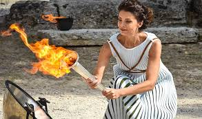 flame lighting olympics. the olympic flame lighting ceremony for 2018 pyeongchang winter olympics, was held on tuesday, october 24 in ancient olympia. olympics o