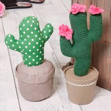 Cactus Fabric Door Stop - kitchen