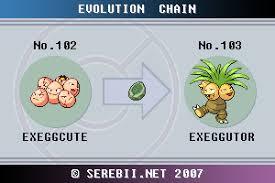 Exeggcute Evolution Chart