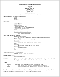 student application template resume template for high school student applying to college sample