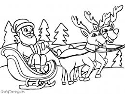 Sleigh And Reindeer Coloring Pages At Getdrawingscom Free For