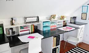 Dual Desk Home Office Crafts ...
