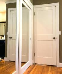 mirror closet doors minimalist unframed door 8 foot tall sliding wood