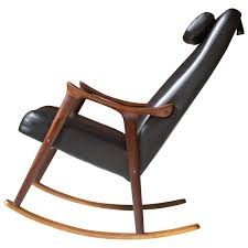 Rocking Chair Modern ingmar relling for westnofa sculpted teak and black vinyl rocking 7998 by guidejewelry.us