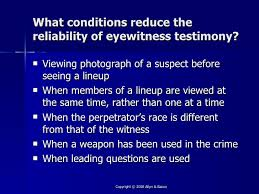 Image result for eyewitness testimony