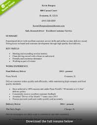 How To Write A Delivery Driver Resume With Examples Thejobnetwork