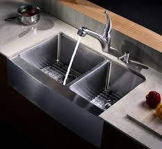 kraus 33 inch farmhouse a 60 40 double bowl stainless steel kitchen sink khf203