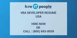 Vba Developer Resume Hire It People We Get It Done