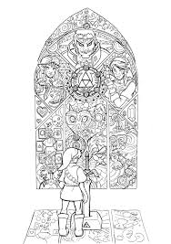 Zelda Coloring Page Link Master Sword From Ocarina Of Time