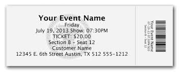 Microsoft Word Ticket Templates Beauteous Sample Ticket Templates Ticket Stub Template Free Savebtsaco