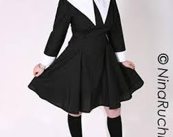 plus size wednesday addams costume aline dress wednesday addams gothic lolita dress goth loli
