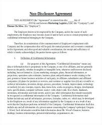 Free Nda Template Free Non Disclosure Agreement Sample Template Employee What