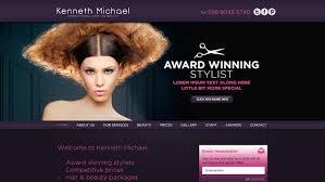 Hair Saloon Websites Hair And Beauty Salon Logo And Website Alan Campbell Freelance