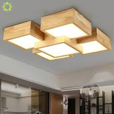 Creative Bedroom Lamp Japanese Style Solid Wood Ceiling Lamp Aisle Lighting  For Living Room Bedroom Kitchen