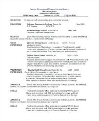 Chronological Resume Example Chronological Resume Template Is The