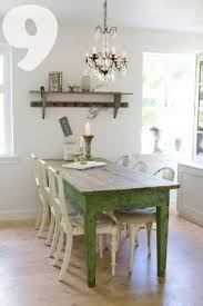 rustic chic dining room tables. what a great pop of vintage green this rustic farm table brings to shabby chic dining room tables c