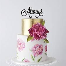 Amazoncom Happyplywood Always Wedding Cake Topper Birthday Cake