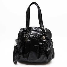 brandvalue take a coach handbag slant shoulder bag 2way bag poppy black patent leather coach lady s h19104 rakuten global market